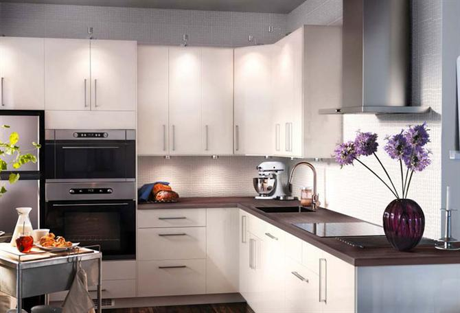 Photos Of Ikea Kitchen With High Gloss Kitchen Cabinet L Shape Ikea Kitchen Concept.